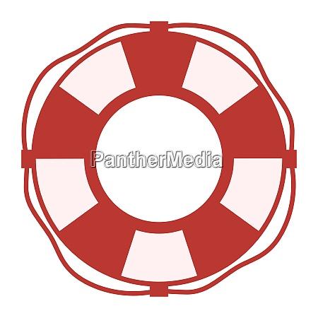lifebelt lifebuoy isolated on white