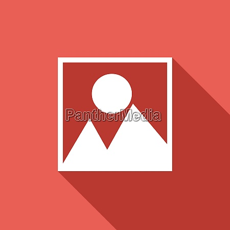 vector photograph icon with long shadow