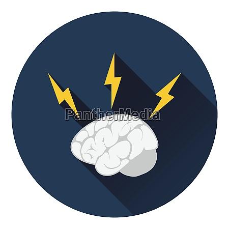 icon of brainstorm flat design vector