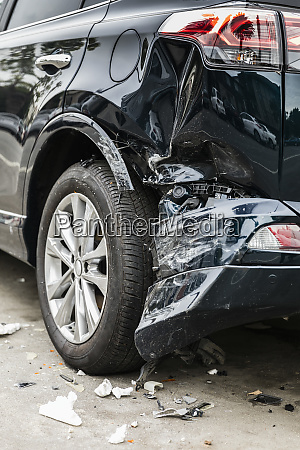 damaged bumper from car accident
