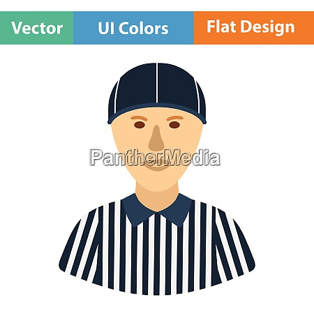 american football referee icon flat color
