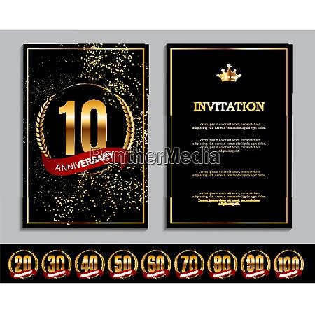 luxury template set of anniversary celebration