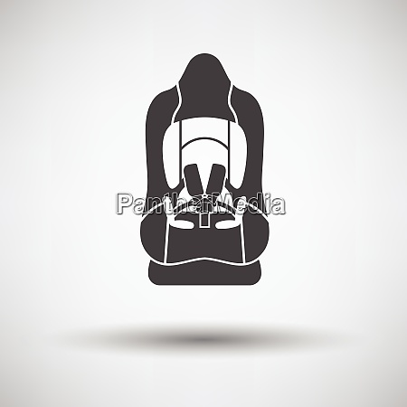 baby car seat icon on gray