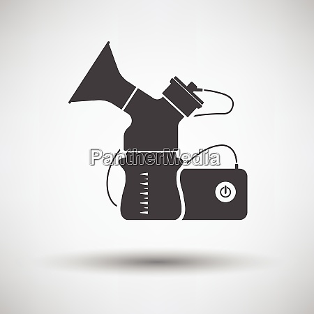 electric breast pump icon on gray