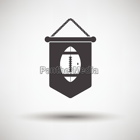 american football pennant icon vector illustration