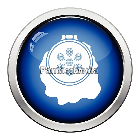 sewing, hoop, icon., glossy, button, design. - 26302408