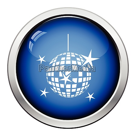 night clubs disco sphere icon glossy