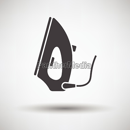 steam iron icon on gray background