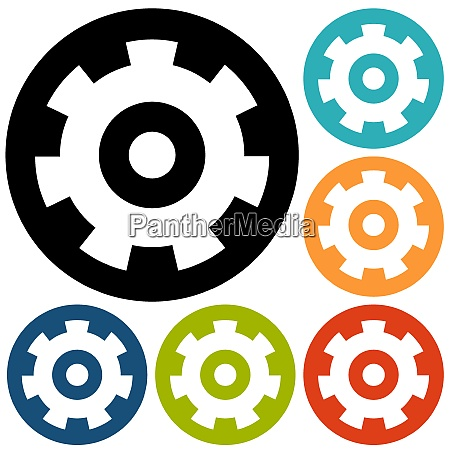 gears isolated object technical mechanical