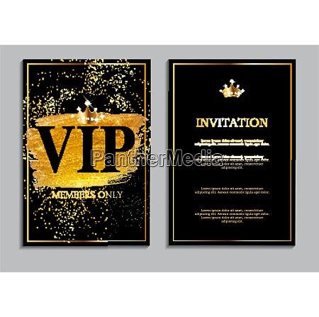 abstract luxury vip members only invitation