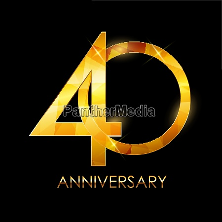 template 40 years anniversary congratulations vector