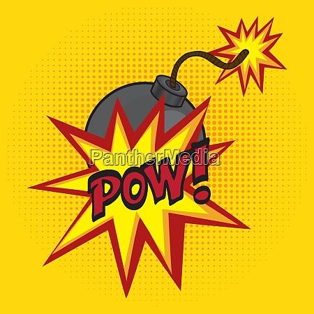 cartoon comics bomb vector illustration comic