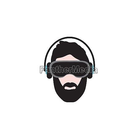 virtual reality headset icon vector