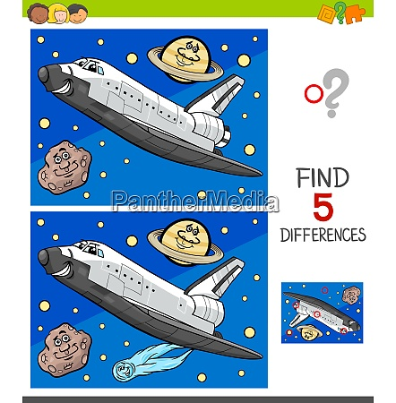 differences game with space shuttle