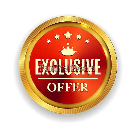 exclusive offer golden medal icon seal