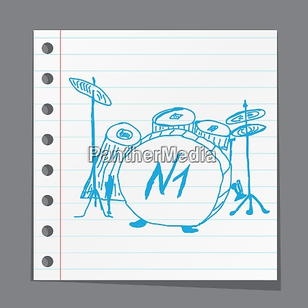 sketches drum kit