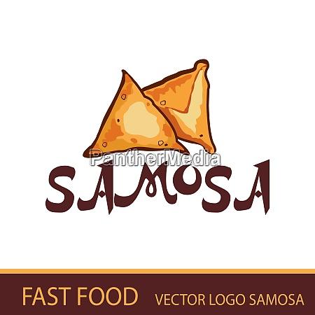 the samosa fast food vector logo