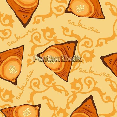 samsa seamless pattern