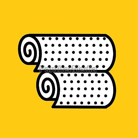 wallpaper rolls of wallpaper vector illustration