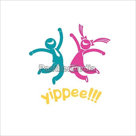 joyful happy people yay man and