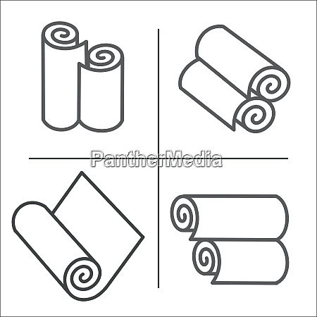 roll of wallpaper icons