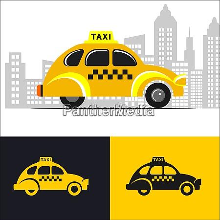 taxi car vector logo sign