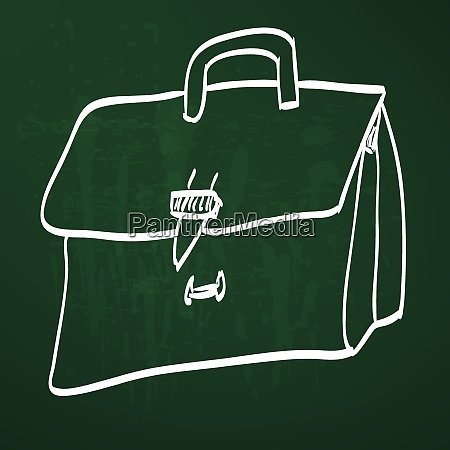 sketch illustration leather briefcase