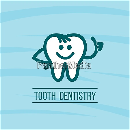 dentist tooth logo design template dental