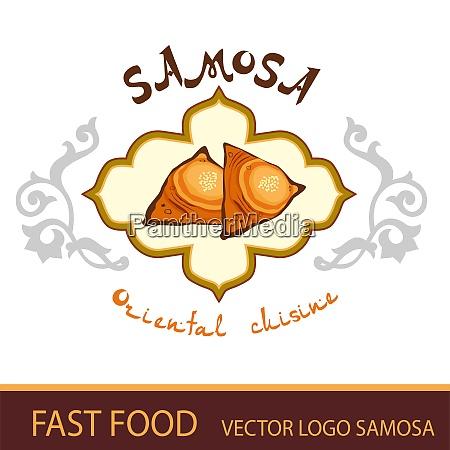 fast food vector logo samosa