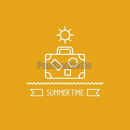 summer logo vector illustration emblem