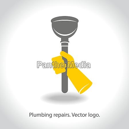 plumbing repairs vector logo