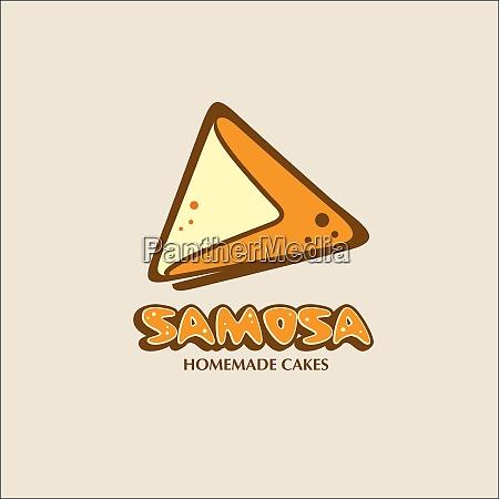 samosa a home bakery vector logo