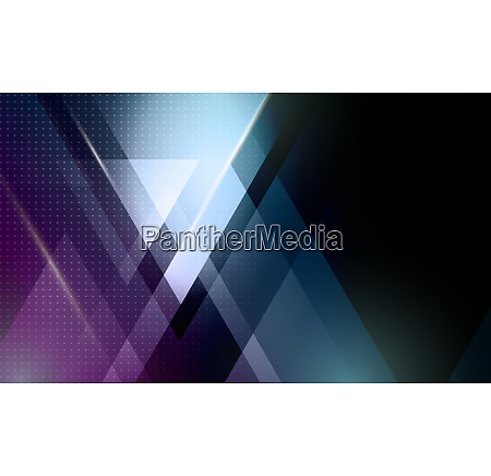 vector color abstract geometric banner with