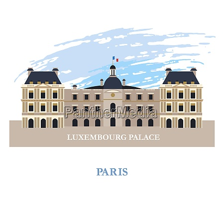 the luxembourg palace in paris france