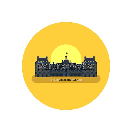 the luxembourg palace paris france vector