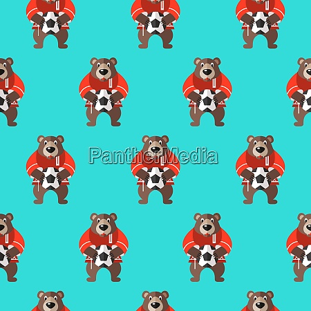 seamless pattern russian souvenir vector illustration