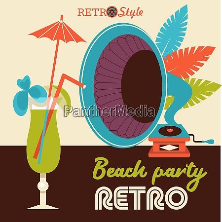 retro music vector illustration retro music