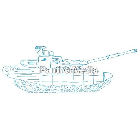 battle tank doodle style