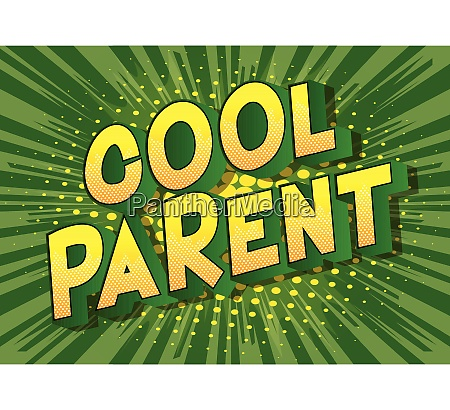 cool parent comic book style