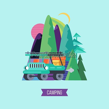 travel, by, car, to, nature., vector - 26318605