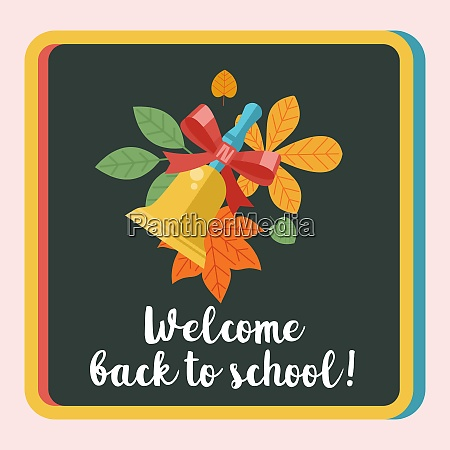 welcome back to school vector logo