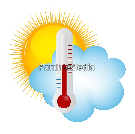 weather icons with sun cloud and