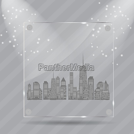 vector illustration of cities silhouette eps