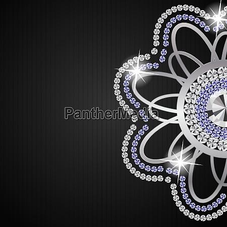 abstract beautiful black diamond background vector