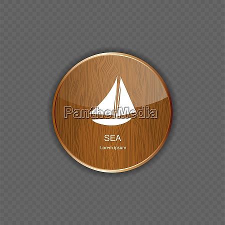 sea wood application icons vector