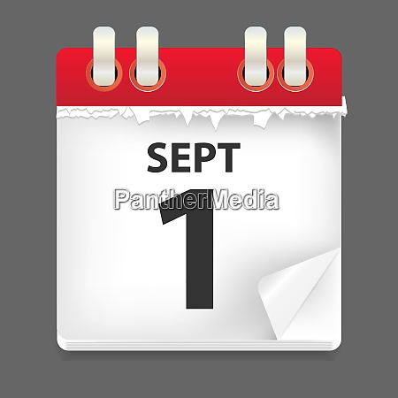 1 september date vector illustration