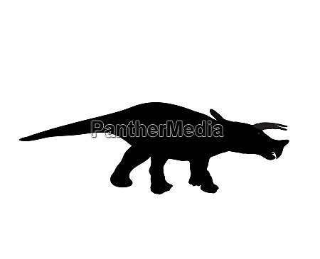 black silhouette dinosaur black vector illustration