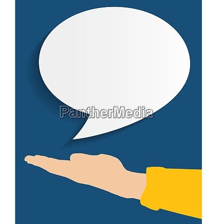 spech bubble background flat vector illustration