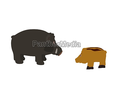 pig isolated on white background vector
