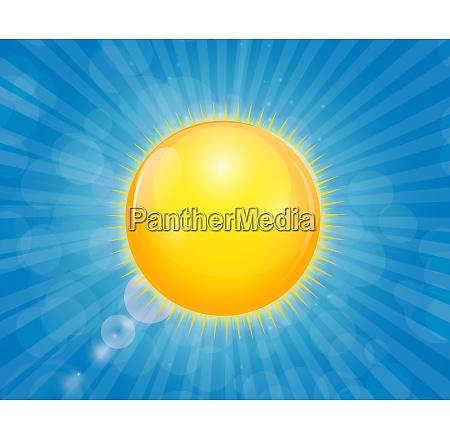 sunny shiny on blue background vector
